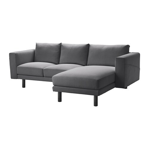 norsborg two seat sofa with chaise longue finnsta dark grey grey ikea. Black Bedroom Furniture Sets. Home Design Ideas