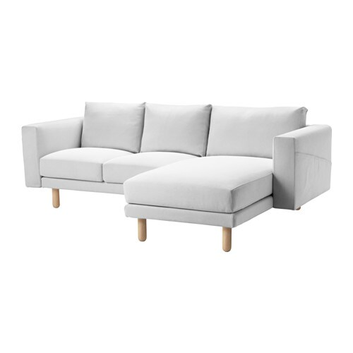 Norsborg two seat sofa with chaise longue finnsta white - Medidas de sofas chaise longue ...