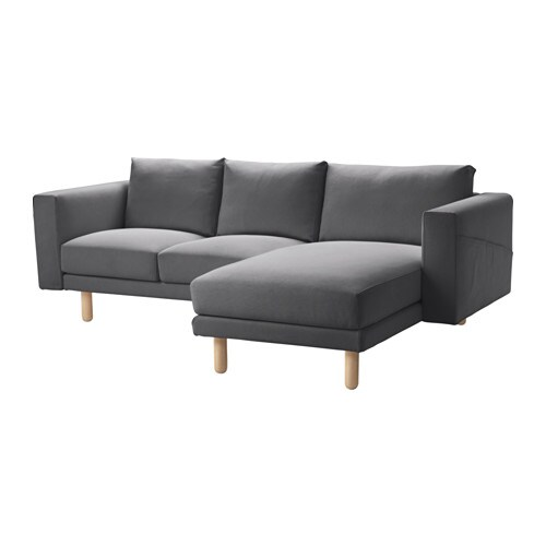 Norsborg two seat sofa with chaise longue finnsta dark for 4 seat sofa with chaise