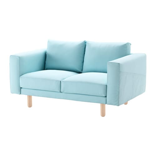 norsborg two seat sofa edum light blue birch ikea. Black Bedroom Furniture Sets. Home Design Ideas