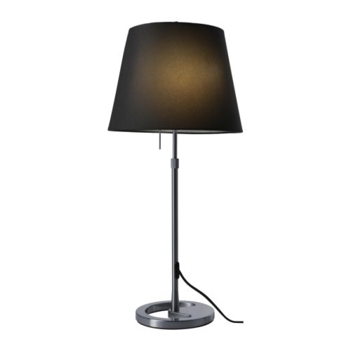 NYFORS Table lamp IKEA Dimmer function; adjust the light intensity according to need.  Shade of textile; gives a diffused and decorative light.