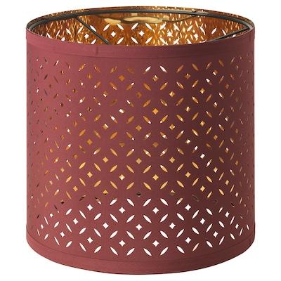 NYMÖ Lamp shade, dark red/brass-colour, 24 cm