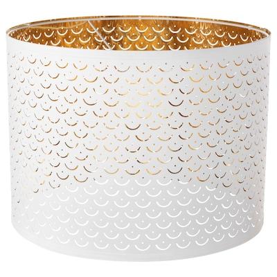NYMÖ Lamp shade, white/brass-colour, 44 cm