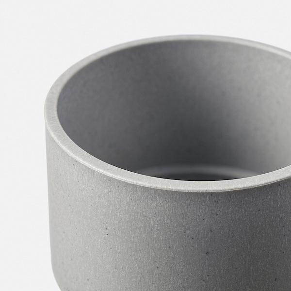 NYPON Plant pot, in/outdoor grey, 6 cm