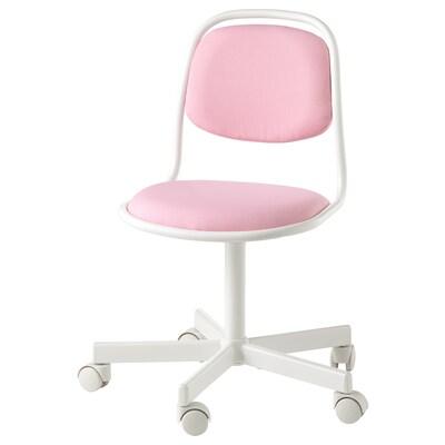 ÖRFJÄLL children's desk chair white/Vissle pink 110 kg 53 cm 53 cm 83 cm 39 cm 34 cm 38 cm 49 cm