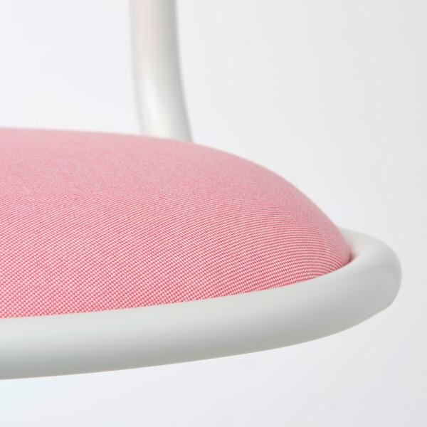 ÖRFJÄLL Children's desk chair, white/Vissle pink