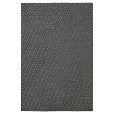 ÖSTERILD Door mat, indoor, dark grey, 60x90 cm