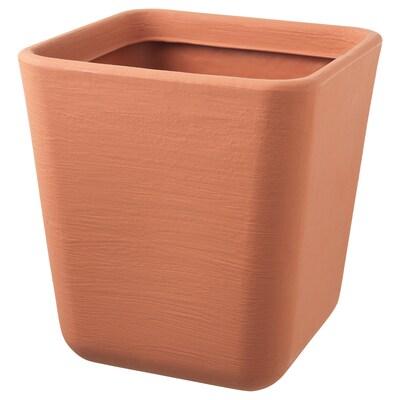 ÖSTLIG Plant pot, in/outdoor red-brown, 37x37 cm