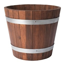 OGENMELON plant pot, acacia, outdoor