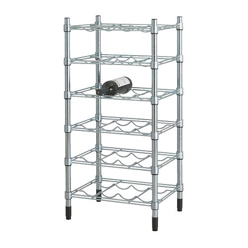 OMAR Bottle shelf IKEA Easy to assemble – no tools required.  You can build several vertically if you need more storage space.