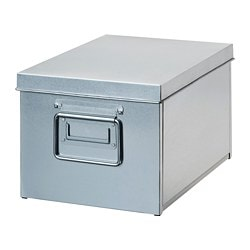 OMBYTE box with lid, galvanised