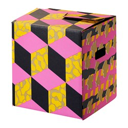 OMBYTE packaging box, pink/yellow