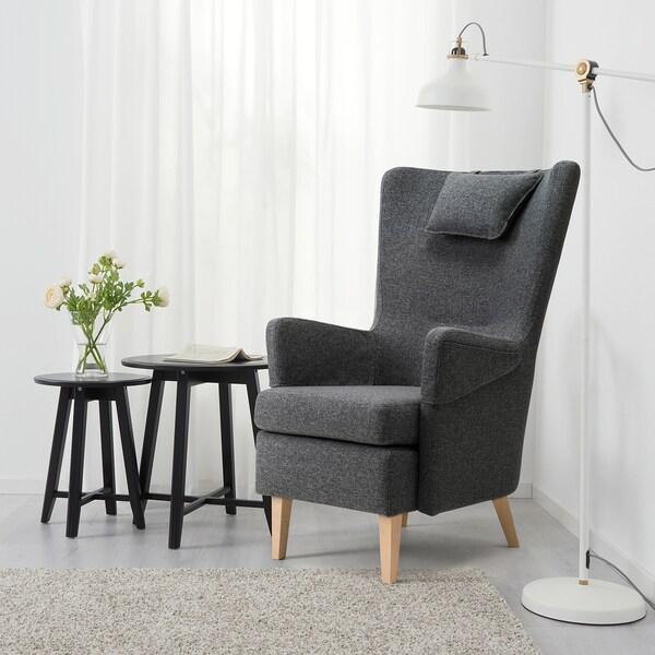 OMTÄNKSAM armchair Gunnared dark grey 72 cm 88 cm 109 cm 18 cm 66 cm 49 cm 54 cm 49 cm