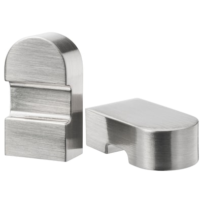 ORRNÄS knob stainless steel colour 17 mm 30 mm 5 mm 2 pack