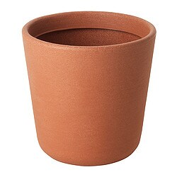 ÖSTLIG plant pot, in/outdoor red-brown