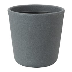 ÖSTLIG plant pot, in/outdoor dark grey