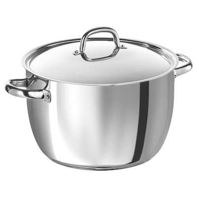 OUMBÄRLIG Stockpot with lid, 10 l
