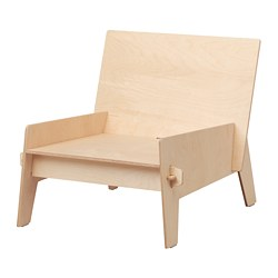 ÖVERALLT easy chair, plywood