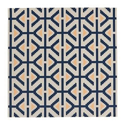 ÖVERALLT rug, flatwoven, in/outdoor natural colour, blue