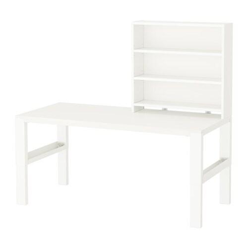 Pahl Desk With Shelf Unit White