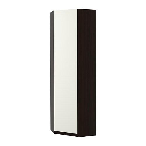Home bedroom wardrobes pax system combinations with doors - Pax Corner Wardrobe Ballstad White Black Brown 73