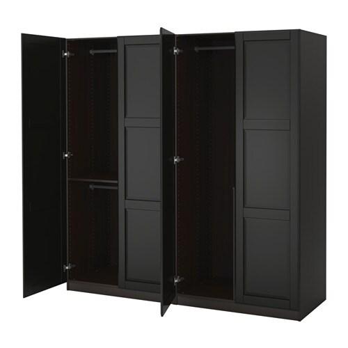 pax wardrobe 200x60x201 cm soft closing hinge ikea. Black Bedroom Furniture Sets. Home Design Ideas