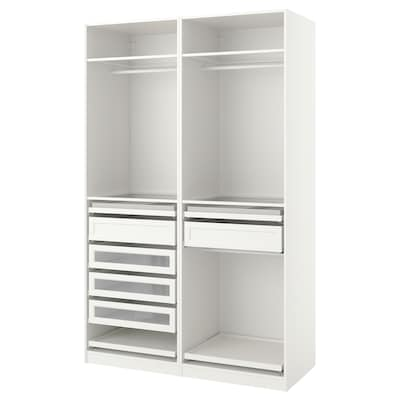 PAX Wardrobe combination, white, 150x58x236 cm