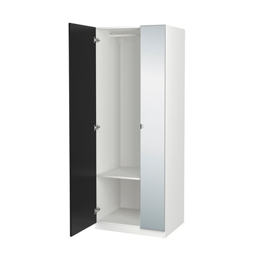 pax wardrobe 75x60x201 cm soft closing hinge ikea. Black Bedroom Furniture Sets. Home Design Ideas