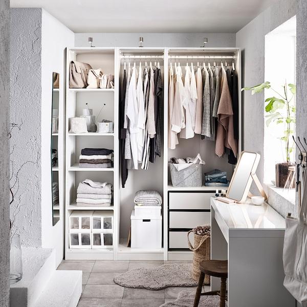 PAX Wardrobe, white, 175x58x201 cm