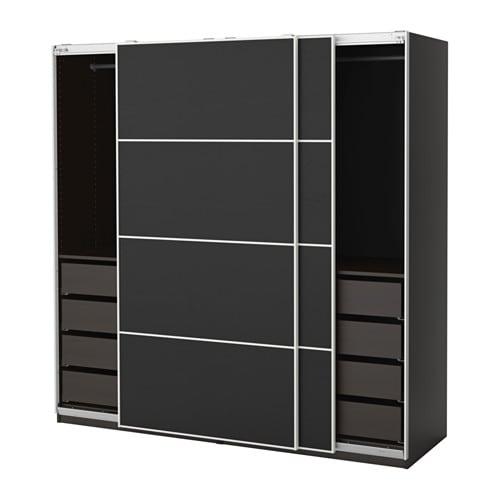 Pax Wardrobe 200x66x201 Cm Soft Closing Device Ikea