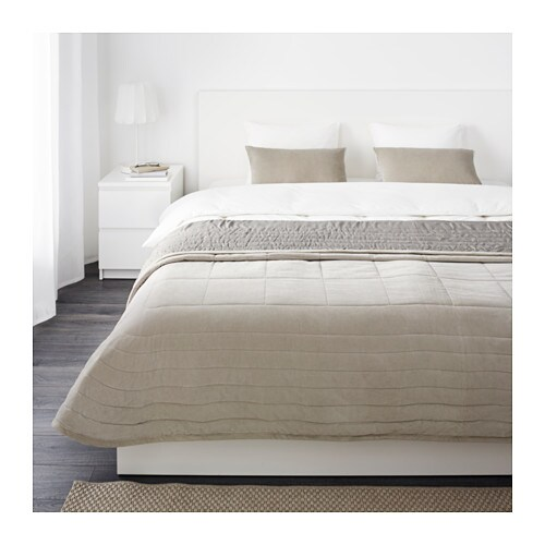PENNINGBLAD Bedspread and 2 cushion covers IKEA Cotton velvet feels nice and soft against your skin and gives the surface an extra lustre.