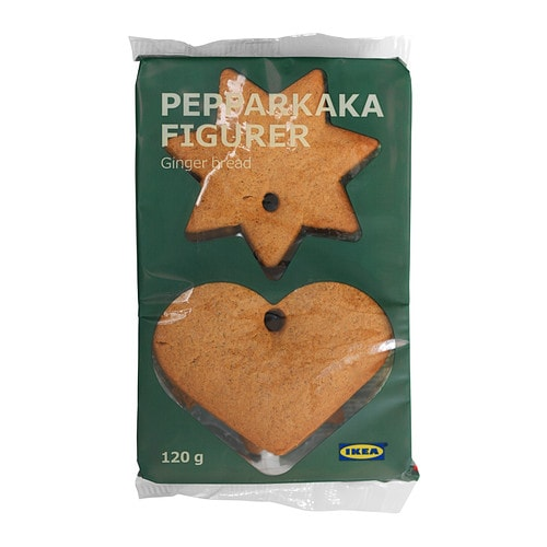 PEPPARKAKA FIGURER Gingerbread hearts & stars IKEA A traditional Swedish Christmas cookie.