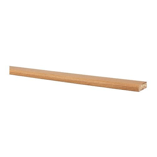 PERFEKT Rounded deco strip/moulding IKEA Can be used as a deco strip at bottom or a cornice at top of wall cabinets.  Can be cut to desired length.