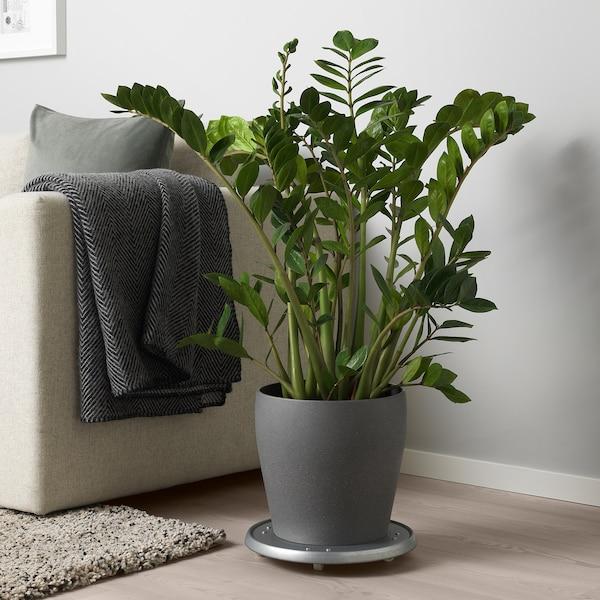 PERSILLADE Plant pot, dark grey, 24 cm