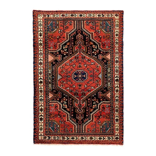 PERSISK HAMADAN Rug, low pile IKEA Hand-knotted by skilled craftspeople, and therefore unique  in design and size.