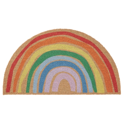 PILLEMARK Door mat, indoor, rainbow, 50x90 cm