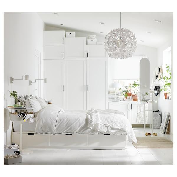 PLATSA Wardrobe with 9 doors, white Sannidal/white, 300x57x271 cm