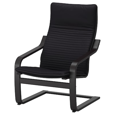 POÄNG Armchair, black-brown/Knisa black