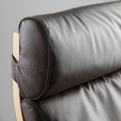 POÄNG Armchair cushion, Glose dark brown