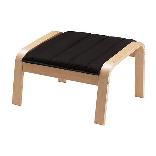 Po ng footstool cushion alme black ikea - Repose pied bureau ikea ...