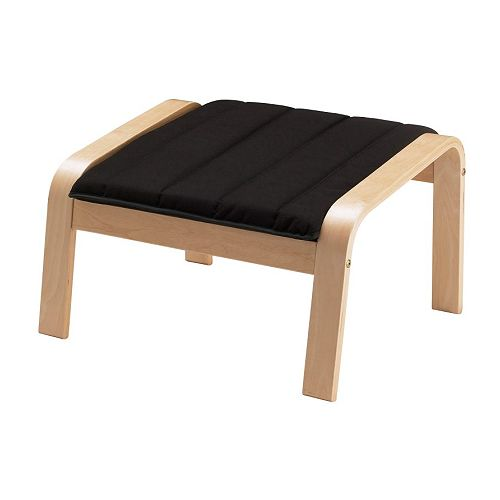 POÄNG Footstool cushion IKEA Easy to keep clean; removable, machine washable cover.