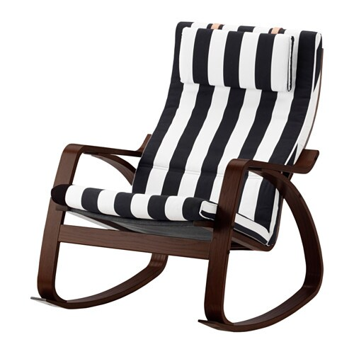 Po ng rocking chair stenli black white ikea - Chaise rocking chair ikea ...