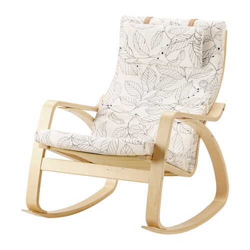 Po ng rocking chair vislanda black white ikea for Chaise rocking chair ikea