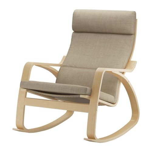 Po ng rocking chair isunda beige ikea for Chaise bercante walmart