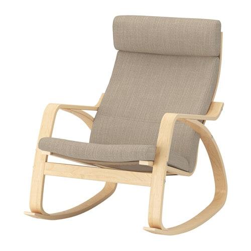 Poang Rocking Chair Birch Veneer Hillared Beige