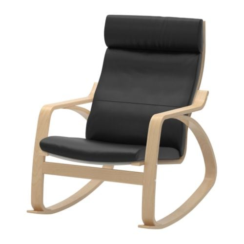 Po ng rocking chair smidig black ikea for Chaise fauteuil ikea