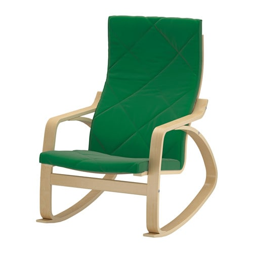 Po ng rocking chair sandbacka green ikea for Chaise rocking chair ikea