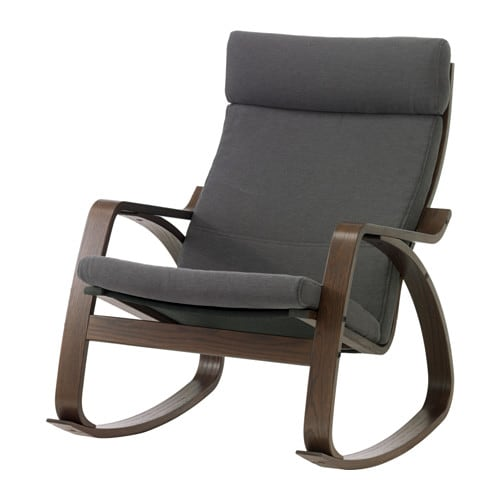 Poang Rocking Chair From Ikea ~ POÄNG Rocking chair IKEA Layer glued bent beech frame gives