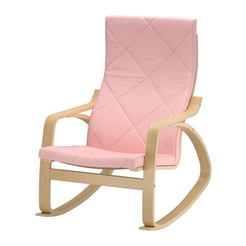 Po ng rocking chair edum pink ikea for Chaise rocking chair ikea