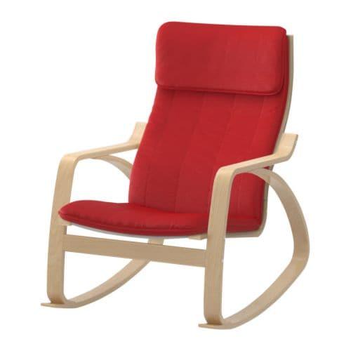 POÄNG Rocking chair Ransta red IKEA